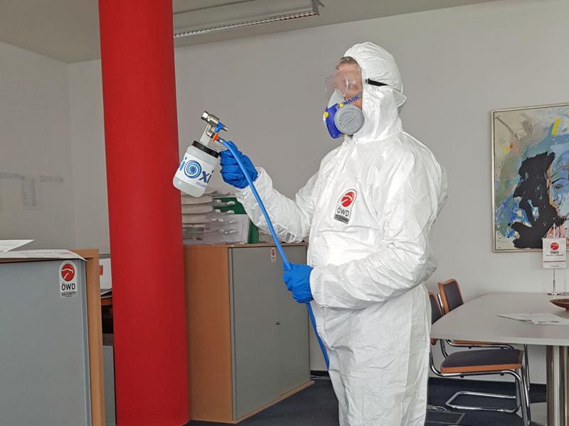 Covid19 Desinfektion Corona Büro